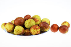 A Lot Of Winter Jujubes Stock Photography