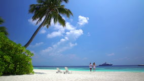 Free A Loving Couple Enjoying Vacation On The Tropical Beach. Slow Motion Royalty Free Stock Photography - 92494837