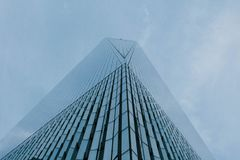 Free A Low Angle Shot Of A Tall Skyscraper Business Building In NYC Stock Photography - 145806662