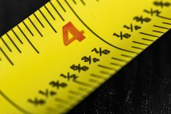 Free A Macro Image Of A Yellow Tape Measure Stock Image - 150944371