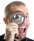 A Magnifying Glass Royalty Free Stock Photography