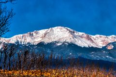 Free A Majestic And Peaceful Classic Image Of Pikes Peak In Colorado America`s Mountain In Snow Royalty Free Stock Photos - 144543828