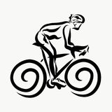 A Man Rides A Bicycle, Sports And Health Royalty Free Stock Image