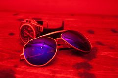 Free A Man`s World In The Red Light Royalty Free Stock Photo - 105605445