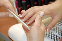 A Manicure Is In A Beauty Salon Stock Image