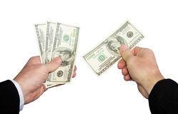 A Mans Hand Taking Money. Royalty Free Stock Image