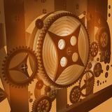 A Mechanical Background With Gears Stock Image