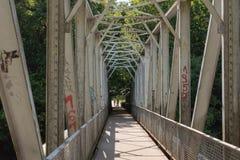 A Metal Bridge Over The Bóbr River. Royalty Free Stock Photos