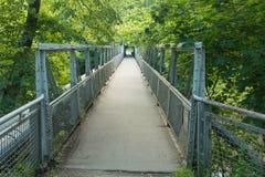 A Metal Bridge Over The Bóbr River. Stock Photo
