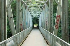 A Metal Bridge Over The Bóbr River. Stock Photography