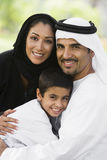 A Middle Eastern Couple And Their Son In A Park Stock Photography