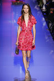 A Model Walks The Runway During The Elie Saab Show Stock Photos