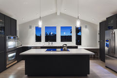 A Modern Kitchen Royalty Free Stock Photo