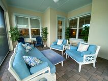 Free A Modern Nicely Decorated Cozy Lanai Royalty Free Stock Photos - 215542238