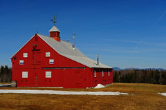 A Newer Bright Red Barn Stock Photos