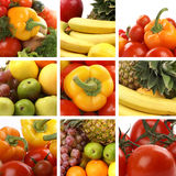 A Nutrition Collage With A Lot Of Tasty Fruits Royalty Free Stock Photography