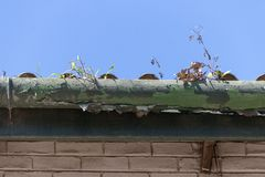 Free A Old Gutter Royalty Free Stock Image - 138004146