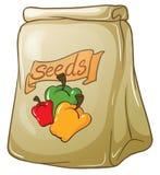 A Pack Of Bell Pepper Seeds Stock Photos