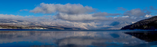 A Panorama Lake McDonald Reflection Royalty Free Stock Image