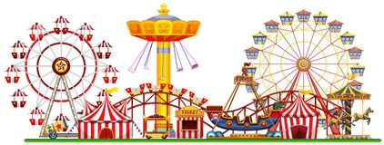 Free A Panorama Of Fun Fair Royalty Free Stock Photography - 118548757