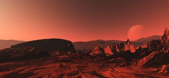 Free A Panorama Of The Planet Mars Royalty Free Stock Photography - 113303697