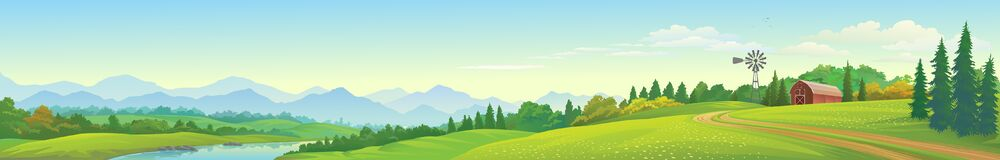 Free A Panoramic View Of The Lake, Mountains, Meadows And A Barn. Royalty Free Stock Images - 181663479