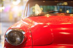 Free A Parts Of The Red  Vintage Car Stock Photography - 184174532