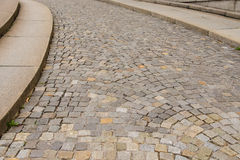 Free A Paved Street With A Curb And Intense Uphill Stock Photo - 30471250
