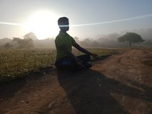 Free A Peaceful Meditation In Morning Of Outside. Royalty Free Stock Photography - 167312377