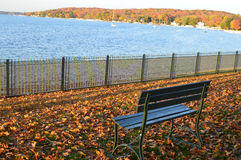 Free A Perfect Place To Sit, Fall Colors, Park Bench Royalty Free Stock Photo - 45824845