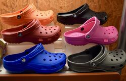Free A Photo Of 6 Colors Of Women S Crocs Stock Photos - 200117823
