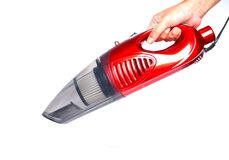 Free A Picture Of Red 2 In 1 Push-rod Type 800W Portable Handheld Vacuum Household Cleaner On White Background Stock Photos - 209535773
