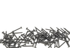 Free A Pile Of Black Screws With Copy Space. Isolated On White Stock Photo - 94376520