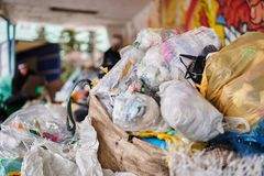 Free A Pile Of Plastic Trash Prepared For Recycling Stock Photography - 142716662