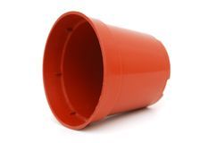 A Plastic Flower Pot Royalty Free Stock Image
