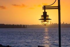 Free A Post Light In The Winter Sunset At Marsh Park, Kirkland, Washington  2 Stock Images - 83518684