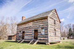 A Preserved Historic Wood House Stock Photo