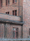 A Prison Behind Barbwire Royalty Free Stock Images