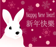 A Rabbit With New Year Greetings Stock Photo