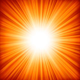 A Red - Orange Color Design With A Burst. EPS 8 Royalty Free Stock Image