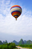 A Rising Hot Air Balloon Stock Photography