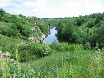 Free A River Flowing In The Buky Canyon, Buki Village, Ukraine. Stock Images - 202975664