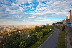 A Road Through Italian Countryside Stock Photography