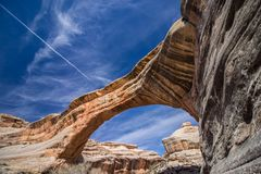 Free A Rock Bridge Over A Canyon At Natural Bridges National Monument. Stock Photography - 145798702