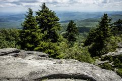 Free A Rocky Mountain Peak In North Carolina. Royalty Free Stock Images - 141487549