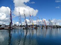 Free A Row Of Yachts In Airlie Beach Marina Partway Through The 2015-16 Clipper Stock Image - 110895701
