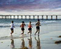 Free A Run To The Pier Royalty Free Stock Image - 1457836