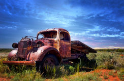 Free A Rusty Old Pick-up Truck Sits Derelict In A Field Royalty Free Stock Photo - 21544435