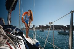 A Sailing Yacht Stock Images