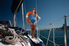 A Sailing Yacht Stock Photos
